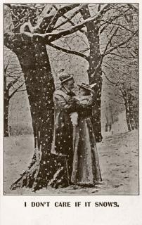 antique  photo postcard