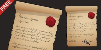Antique letter with wax stamp