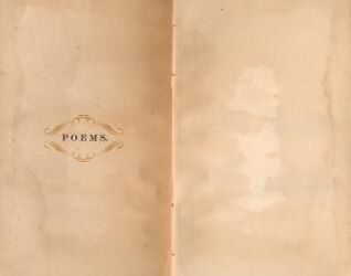 antique poems paper template