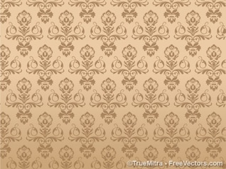 Antique seamless pattern with flowers