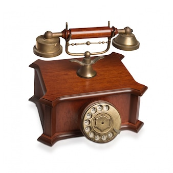 Antique telephone with rotary dial