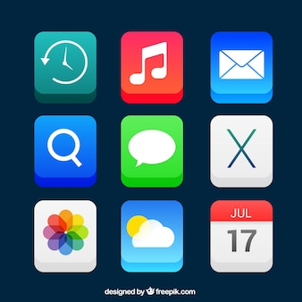 App icons in 3d style