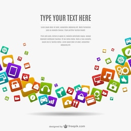 App icons vector background