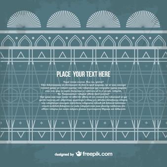 Arabesque style vector template
