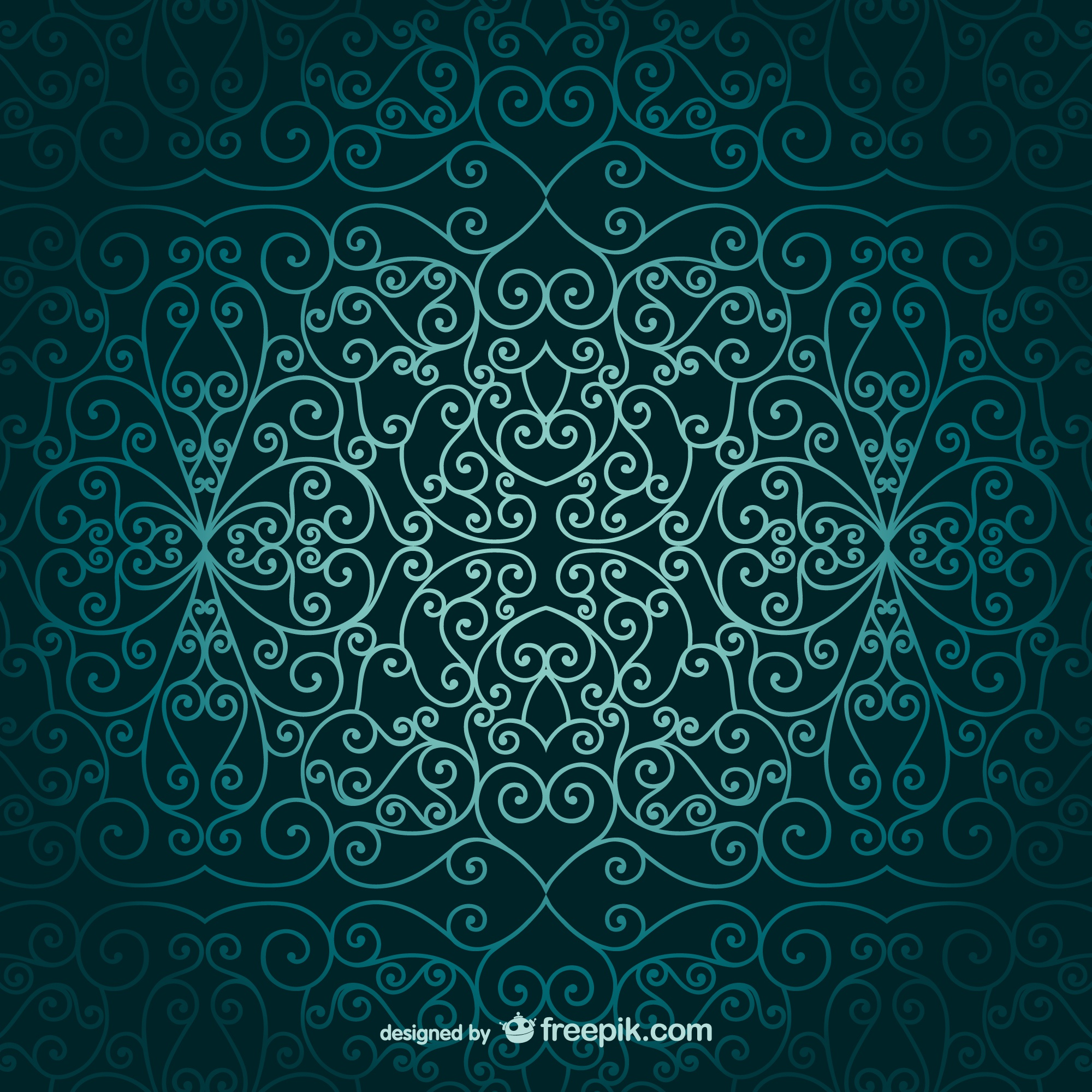 Arabic ornamental wallpaper