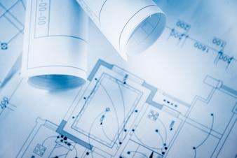 Architectural blueprints.