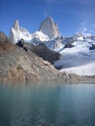 argentina bay glacier ice snow