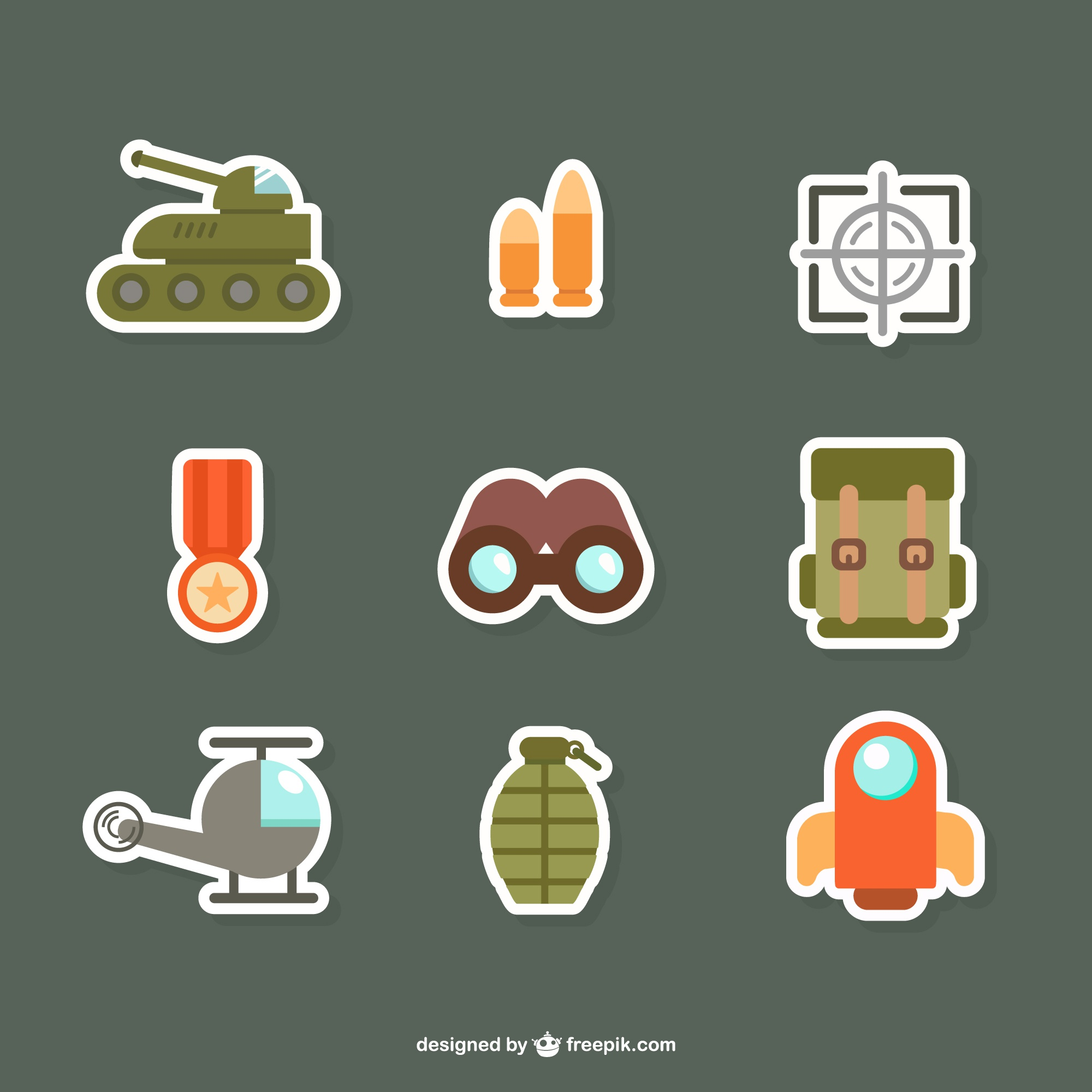 Army flat icons