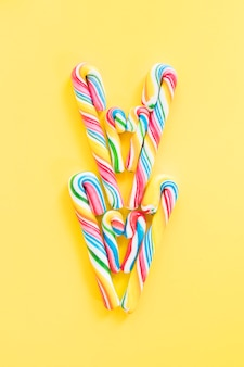 Arranged candy canes