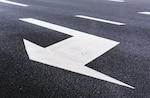 Arrow indicating lane change