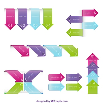Arrow infographic elements