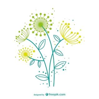 Artistic dandelion vector