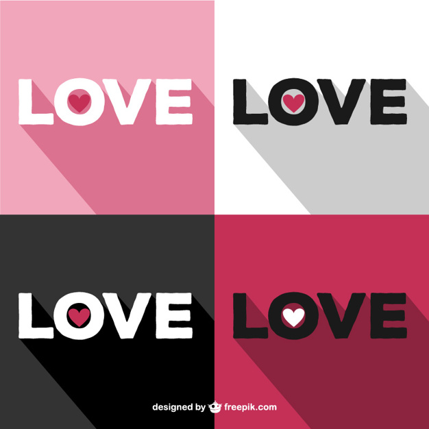 Artistic love background vector