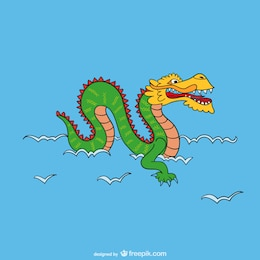 Asian dragon cartoon
