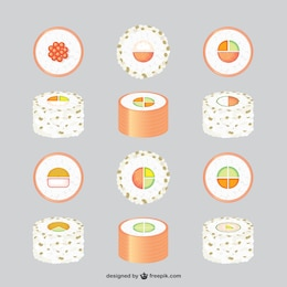 Asian food free graphics set