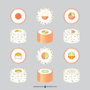 Asian food free graphics set