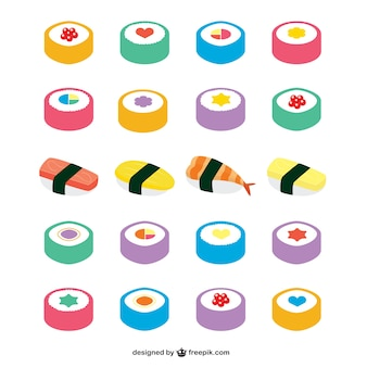 Asian food icons