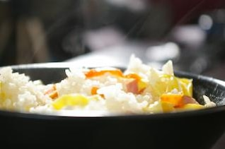 Asian rice cantonese, food