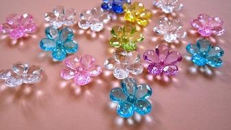 Assorted Colorful Flower Crystal Gems