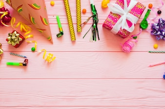 Assortment of party decorations