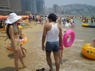 At the Beach, beach, children