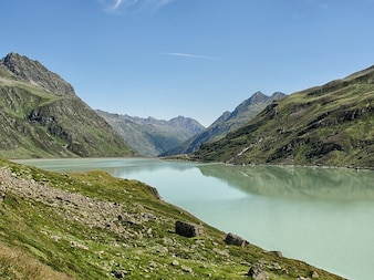 Austria river water valley lake mountains