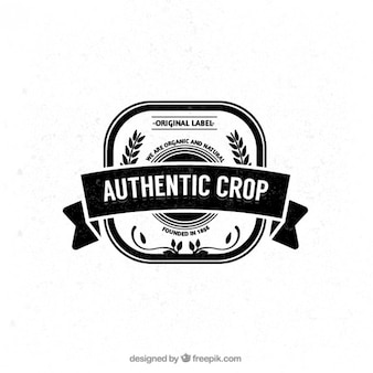Authentic crop badge
