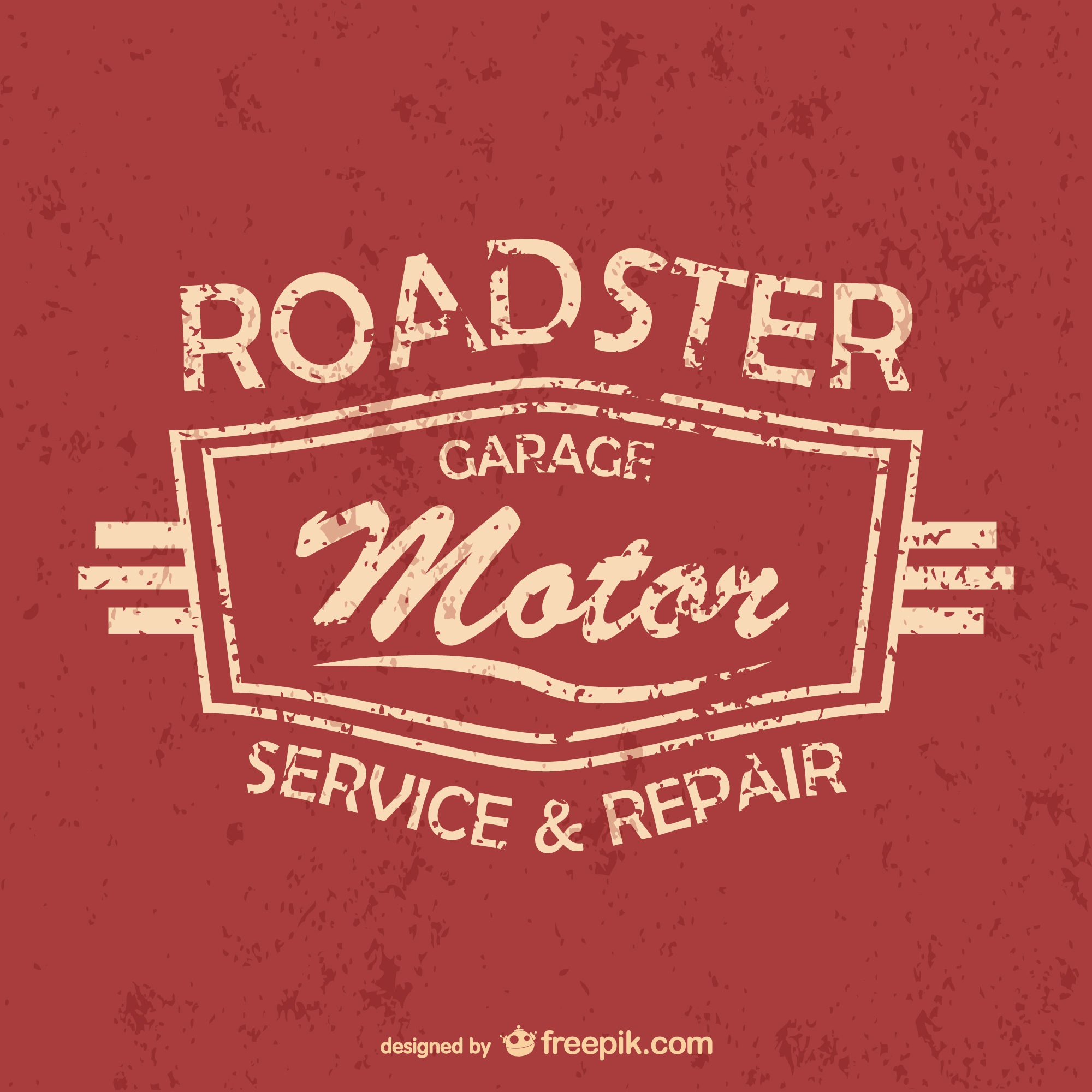 Auto service and garage free vector