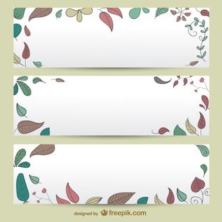 Autumn banner templates