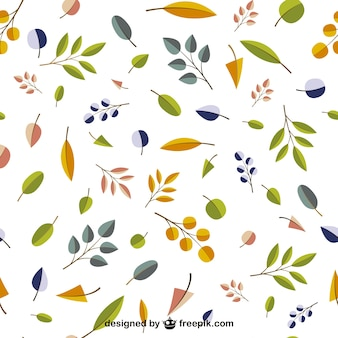 Autumn leaves editable pattern
