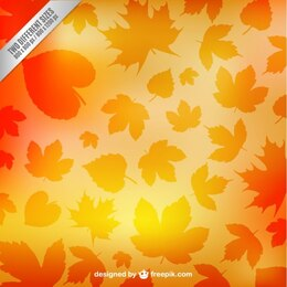 Autumn leaves silhouettes pattern
