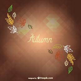 Autumn minimalist background