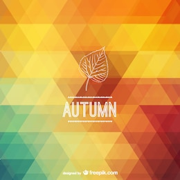 Autumn polygonal background