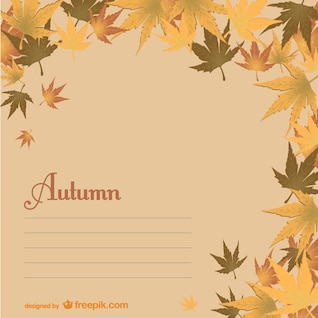 Autumn template with leaves