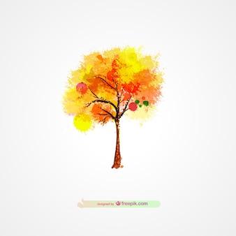 Autumn tree splatter design