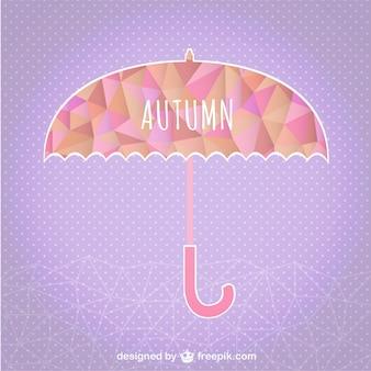 Autumn umbrella geometric template