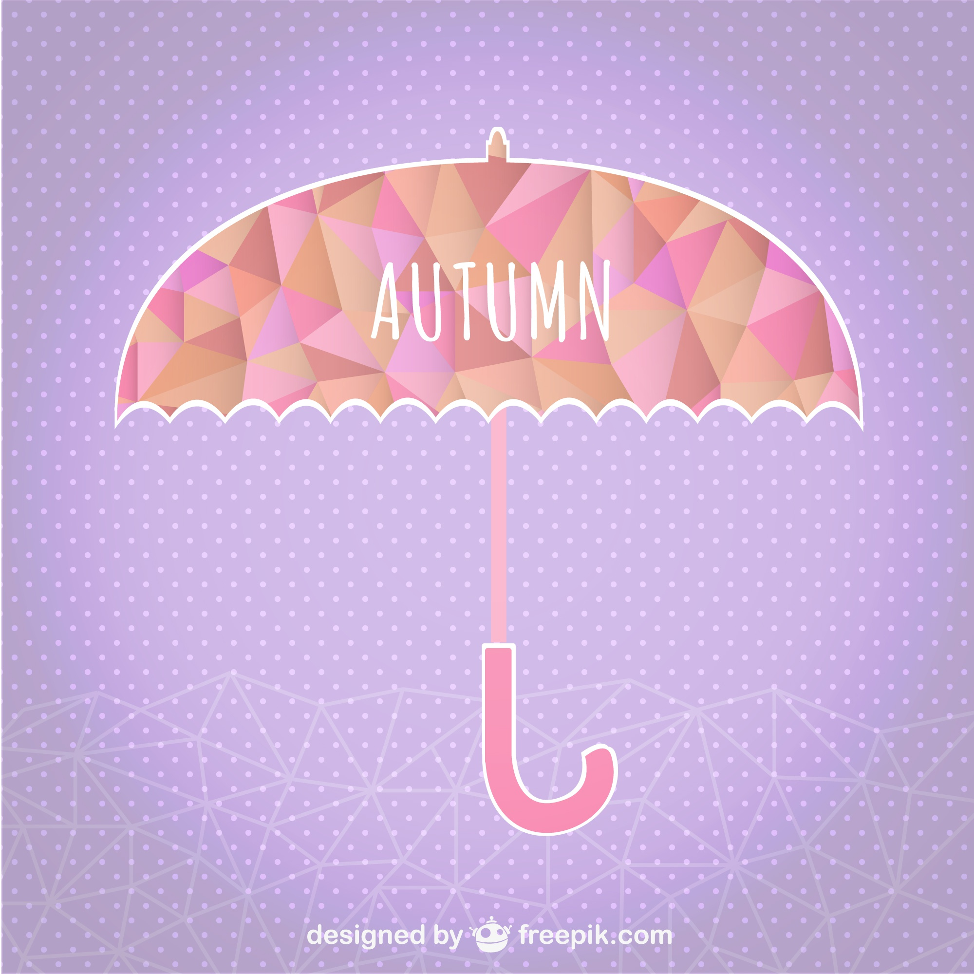 Autumn umbrella geometric template