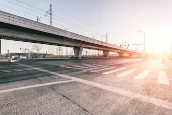 Avenue with bridge