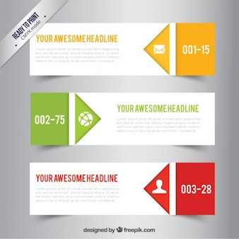 Awesome business banners