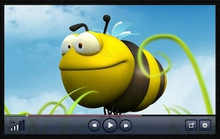 awesome transparent video player psd