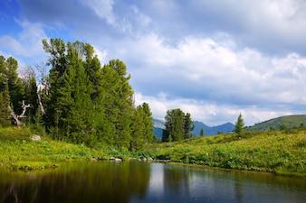 Ayryk lakes in Altai mountains
