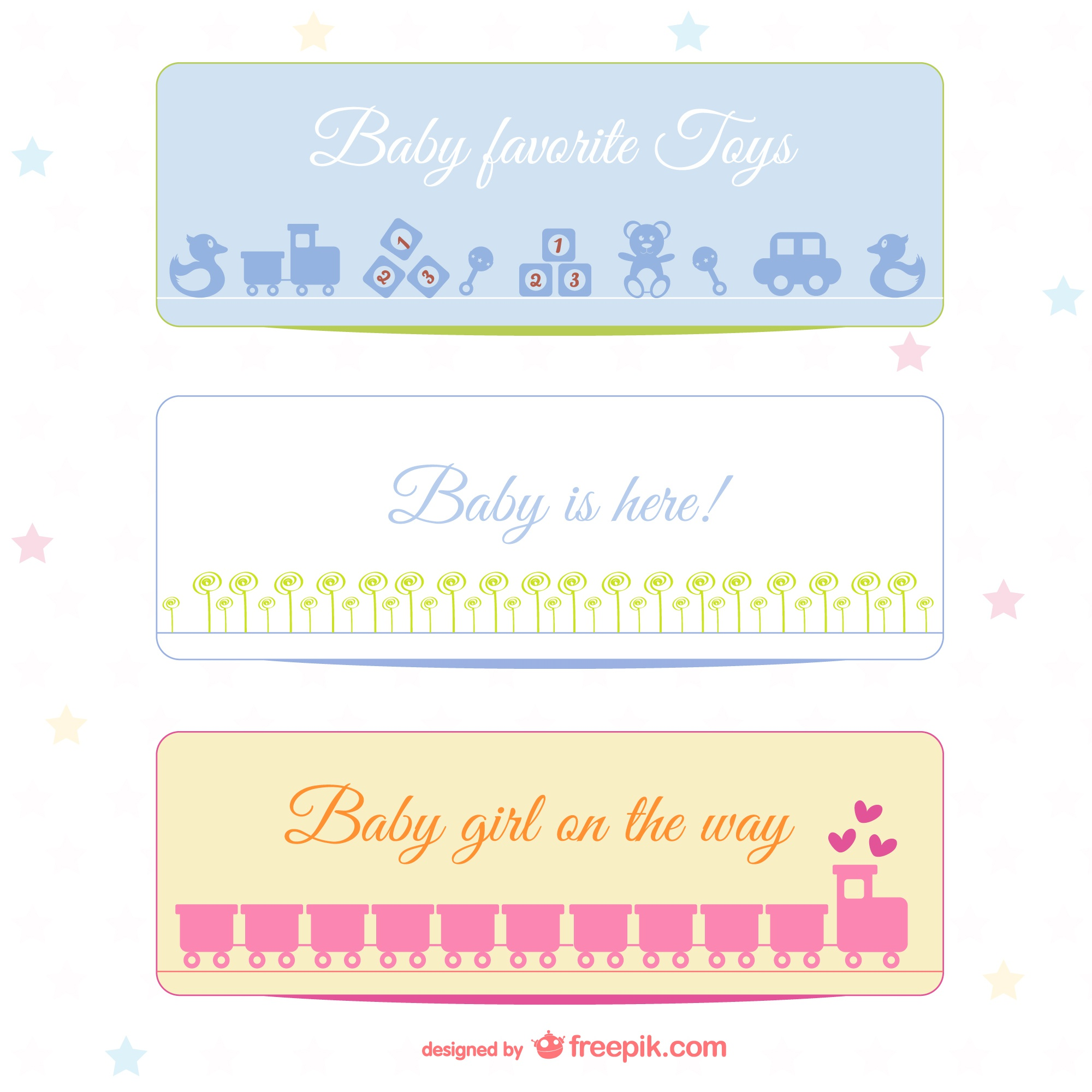 Baby banners set