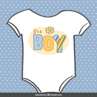Baby body suit baby shower card