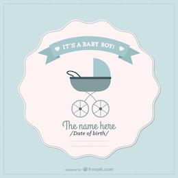 Baby boy announcement card