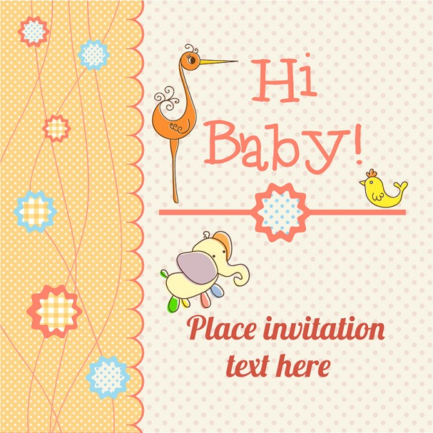 Baby card announcement free download