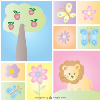Baby Card Nature Design