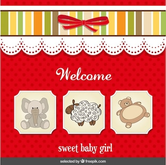 Baby shower card for sweet baby girl