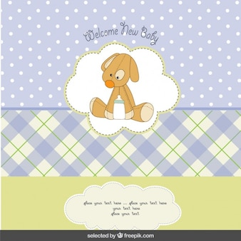 Baby shower card with teddy dog