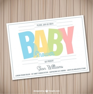 Baby shower card wooden template