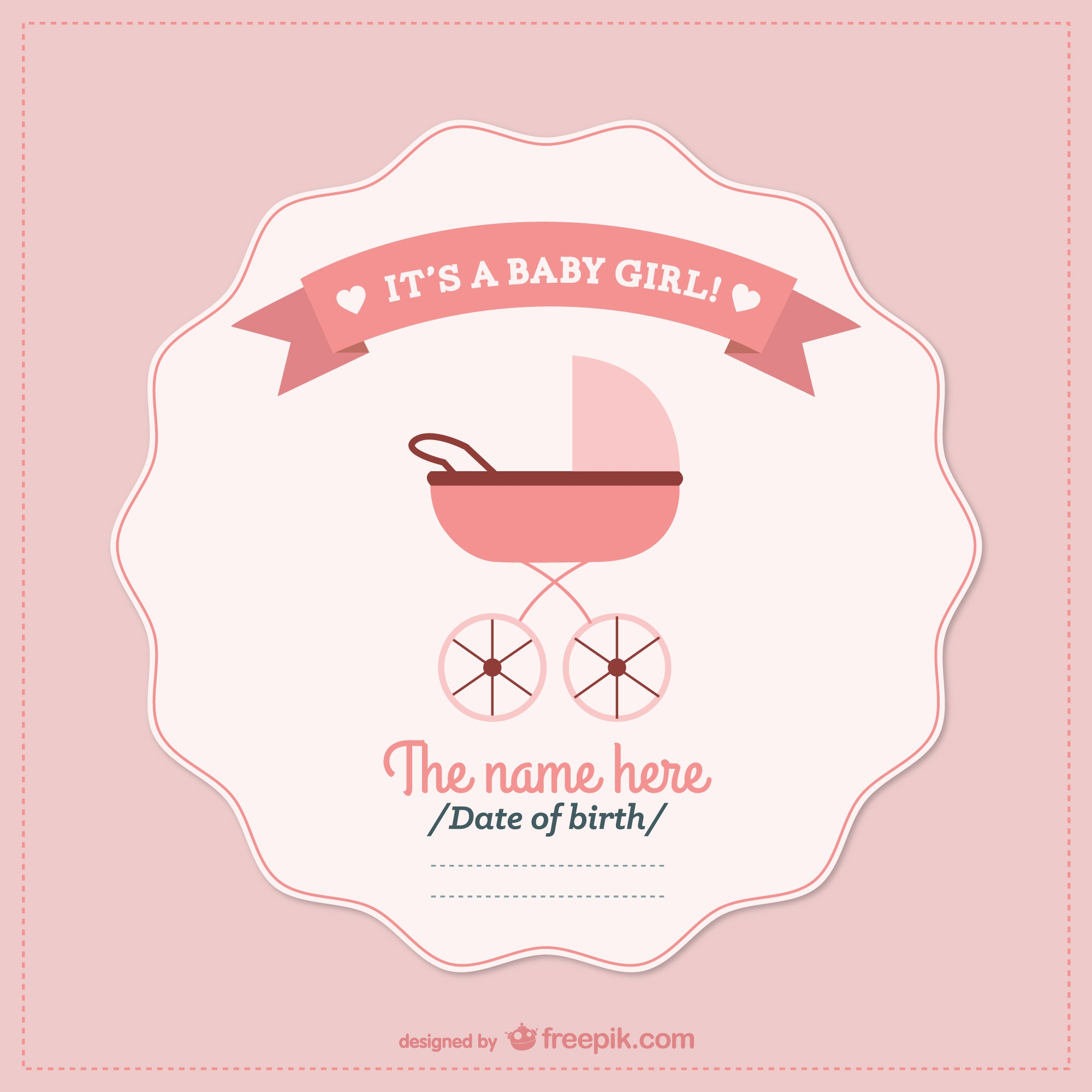 Baby shower vector card